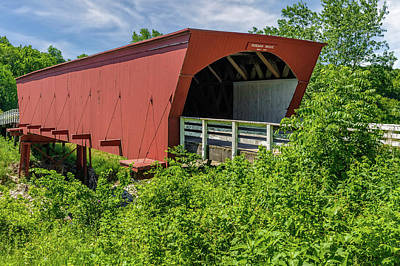 Photograph - Roseman Covered Bridge Madison County Iowa  -  Std4 by Frank J Benz
