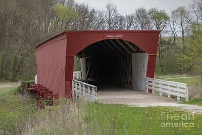 Photograph - Roseman Covered Bridge - Madison County - Iowa by Teresa Wilson