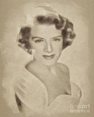 Clooney Drawing - Rosemary Clooney, Singer And Actress By John Springfield by John Springfield