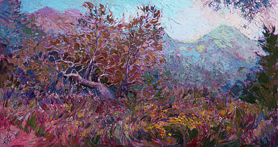 Thicket Painting - Rosemont Preserve by Erin Hanson