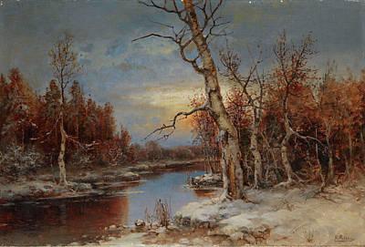 Rosen Painting - Rosen, Karl 1864-1934 Winter Landscape by Rosen Karl