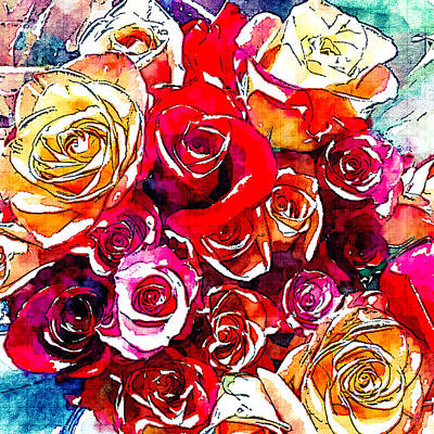 Photograph - Roses 1 by Ronda Broatch