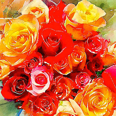 Photograph - Roses 2 by Ronda Broatch
