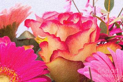 Photograph - Roses 3 by Ed Churchill