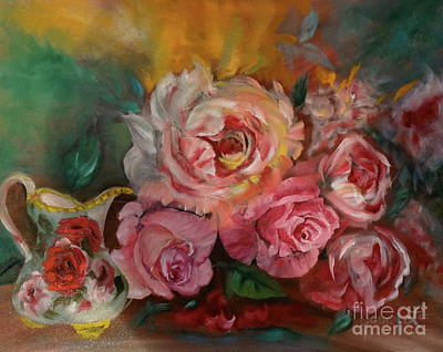 Painting - Roses And Cream by Jenny Lee
