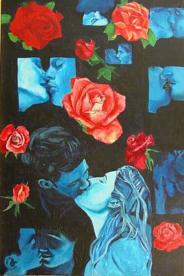 Roses And Kisses Art Print