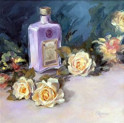 Painting - Roses And Lavender by Diane Reeves