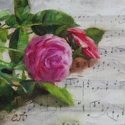 Painting - Roses And Music by Emily Olson