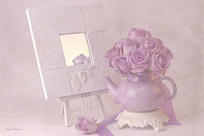 Flower Still Life Photograph - Roses And Their Reflection by Sandra Foster