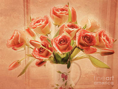 Photograph - Roses And Tulips by Alana Ranney