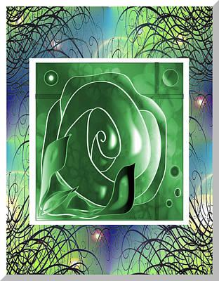 Digital Art - Roses Are Green by Iris Gelbart