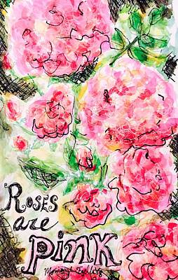 Painting - Roses Are Pink by Monique Faella