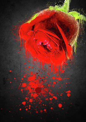 Romeo And Juliet Digital Art - Roses Are Red And I Am Not by Dray Van Beeck