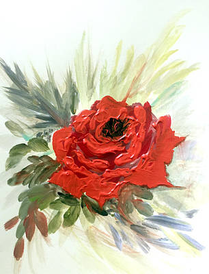 Painting - Roses Are Red by Dorothy Maier