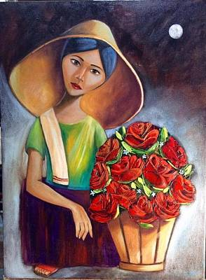 Painting - Roses Are Ref by Khristina Manansala
