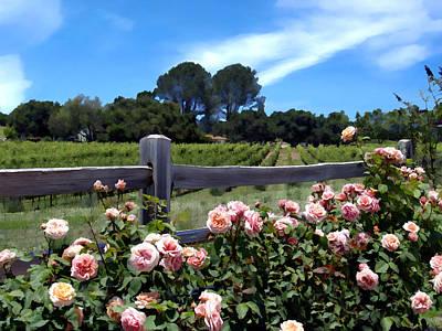Vineyards Photograph - Roses At Rusack Vineyards by Kurt Van Wagner