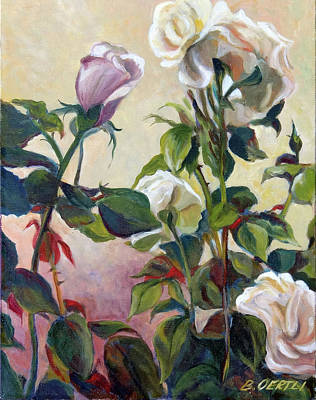 Painting - Roses by Barbara Oertli