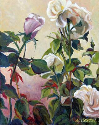 Painting - Roses by Barbara Oertli