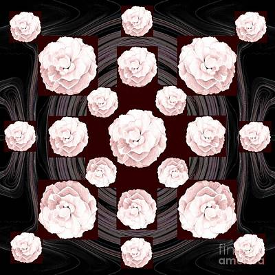 Digital Art - Roses Blooming In Pink by Helena Tiainen