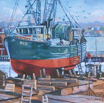 Painting - Roses Boat Yard by Michael McDougall