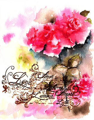 Roses Card Print by Isabel Salvador