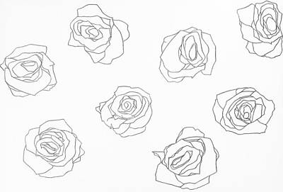 Simplicity Drawing - Roses by Chandre White
