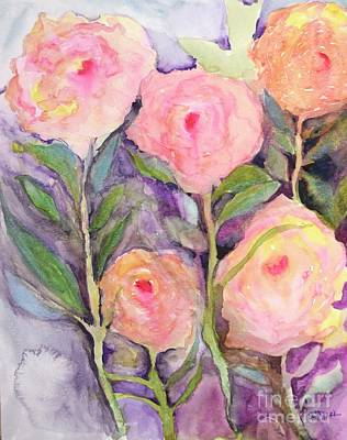 Painting - Roses Disguised As Peonies 9x11.5 Watercolor/140cp Paper by Barrie Stark