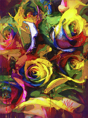 Painting - Roses Dream by Malcolm L Wiseman III