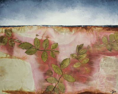 Mixed Media - Roses For Hazel I by Carolyn Doe