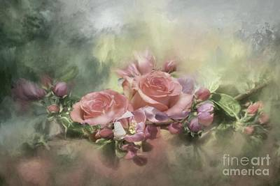 Mixed Media - Roses For Judy by Janette Boyd