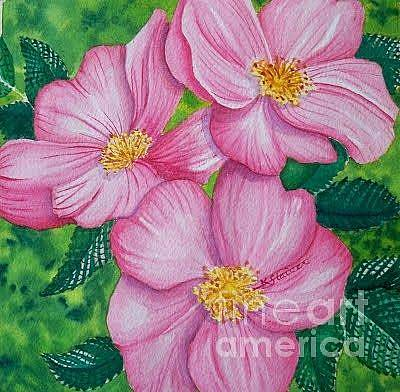 Painting - Roses For Mom by Kathy Staicer