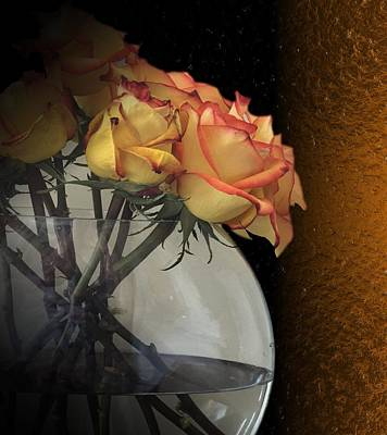 Digital Art - Roses For My Love by Michael Hurwitz