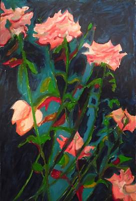 Painting - Roses For Rose by Esther Newman-Cohen