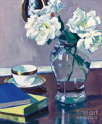 White Flowers Painting - Roses by Francis Campbell Boileau Cadell