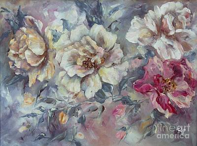 Painting - Roses From A Friend by Ryn Shell