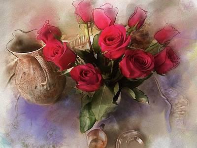Digital Art - Roses From Carmyn by Gina Harrison