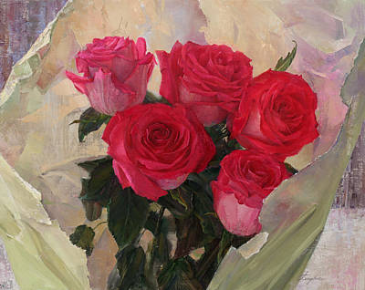 Painting - Roses by Galina Gladkaya