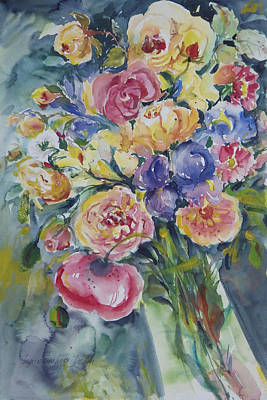 Painting - Roses Galore by Ingrid Dohm