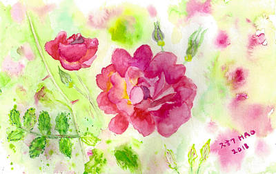 Painting - Roses by Helian Osher