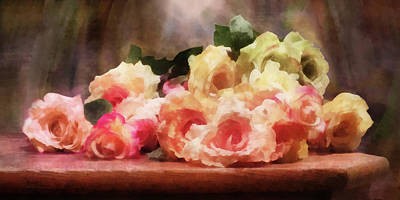 Digital Art - Roses In A Pile by Francesa Miller