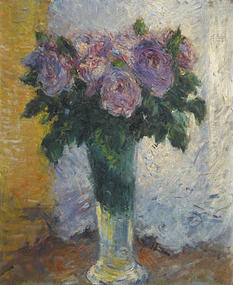 Painting - Roses In A Vase by Gustave Caillebotte