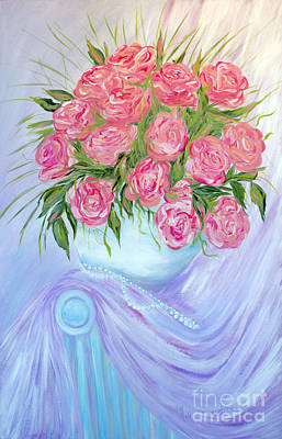 Painting - Roses In A Vase by Oksana Semenchenko