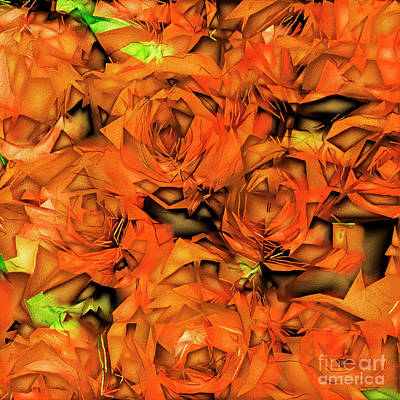 Print featuring the photograph Roses In Abstract 20170325 Square by Wingsdomain Art and Photography