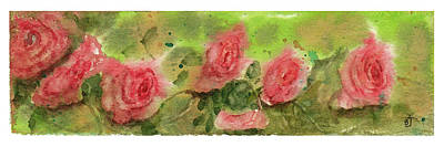 Painting - Roses In Bloom by Barry Jones