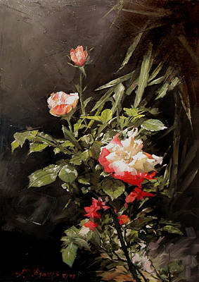 Painting - Roses In My Garden by Demetrios Vlachos