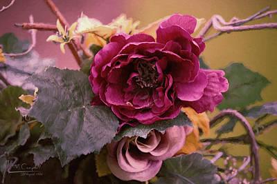 Roses In Oils Art Print