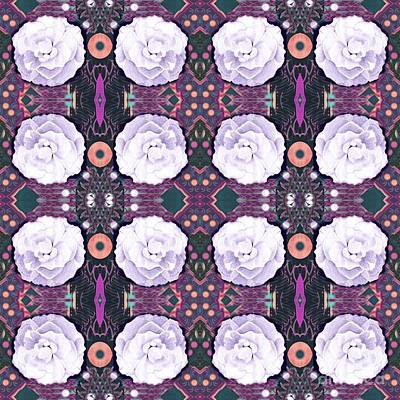 Digital Art - Roses In Purple And Lavender by Helena Tiainen