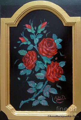 Painting - Roses In The Classic Style by Anna Folkartanna Maciejewska-Dyba