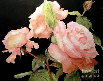 Painting - Roses In The Garden by Carol Grimes