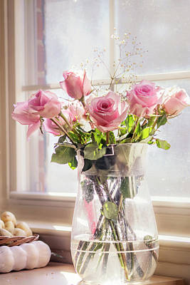 Photograph - Roses In The Kitchen by Rima Biswas